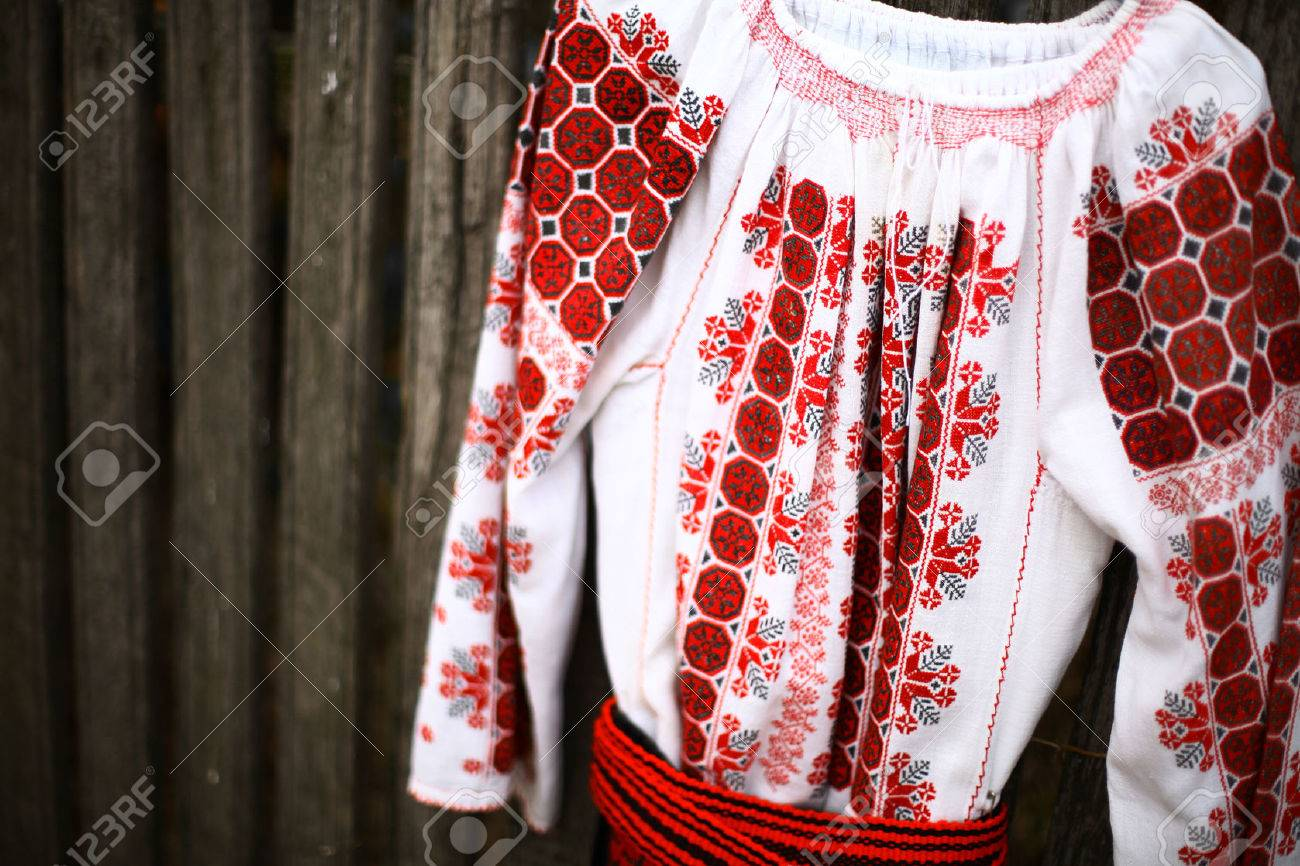 afc569189e8421 Close up color shot of a traditional Romanian blouse Stock Photo - 24987272
