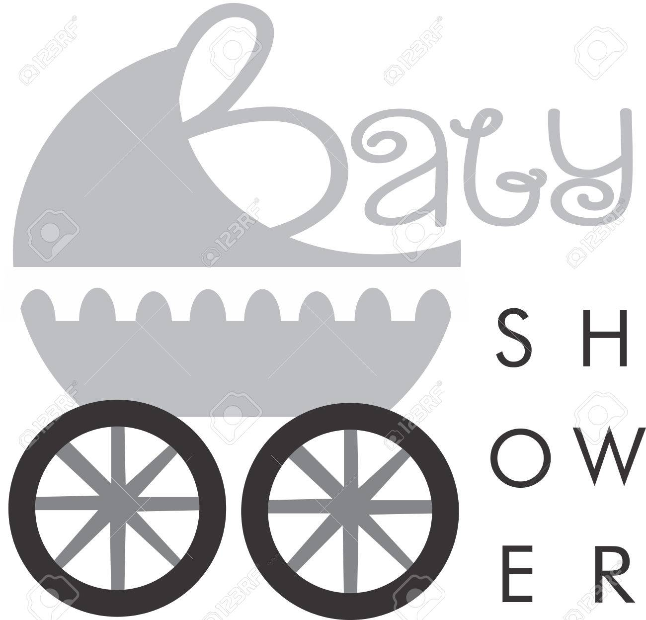Baby Shower Logo Stock Vector   38864044