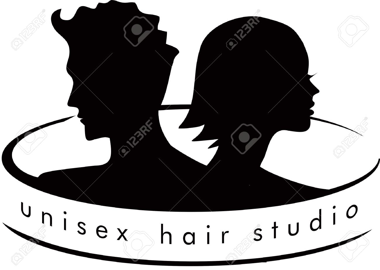 Unisex Hair Salon Logo Royalty Free Cliparts Vectors And Stock Illustration Image 43545723
