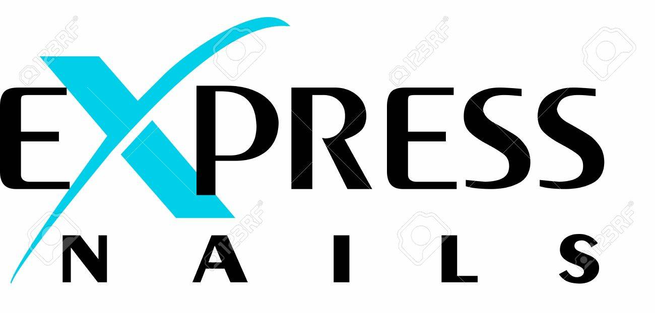 Express Nails Logo Stock Vector