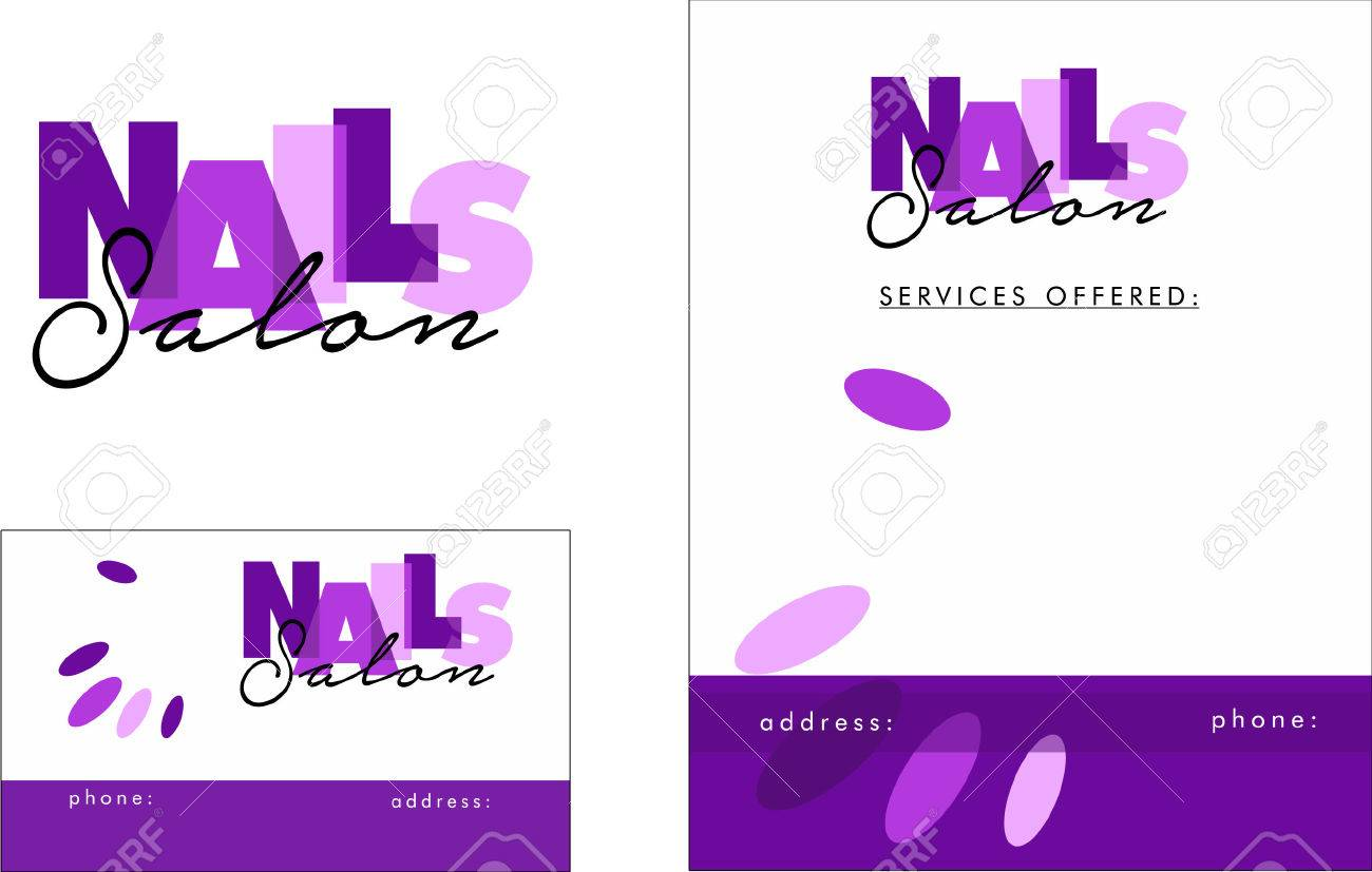Nail business cards templates image collections free business cards nail salon business card choice image free business cards free nail business card designs examples of magicingreecefo Images