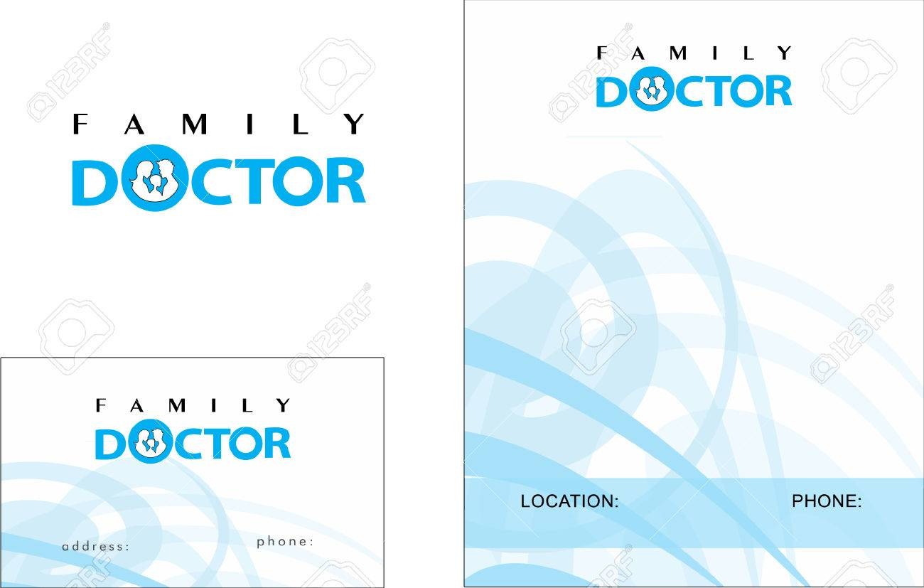 Medical Business Card Design And Brochure Royalty Free Cliparts ...
