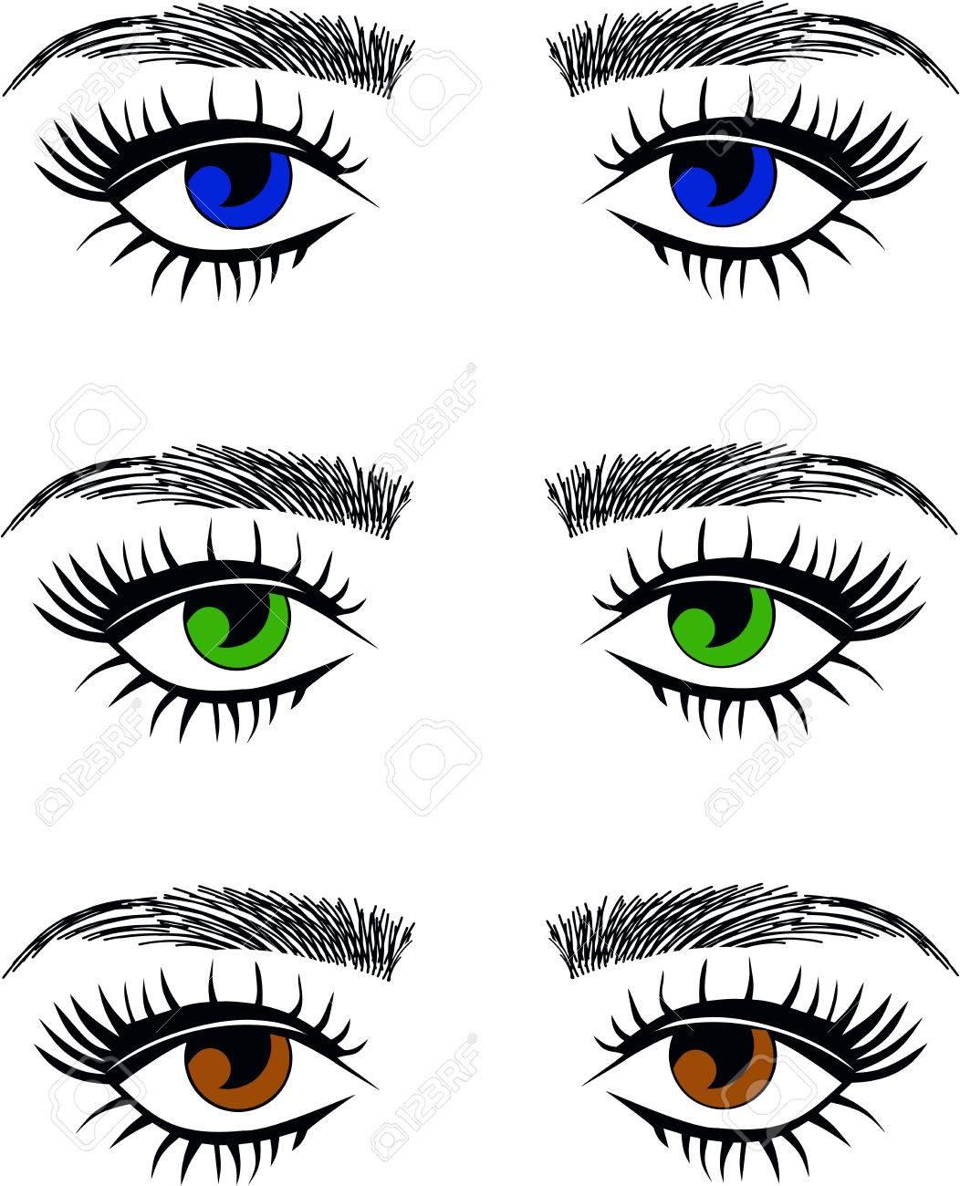 Augen grüne oder blaue Grüne Augen: