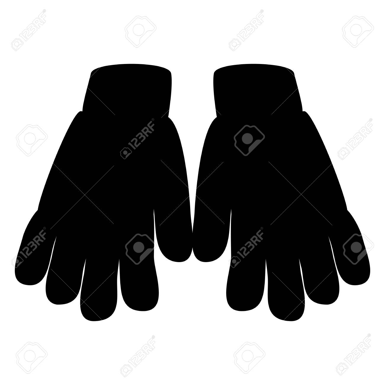 winter gloves silhouette icon symbol design royalty free cliparts