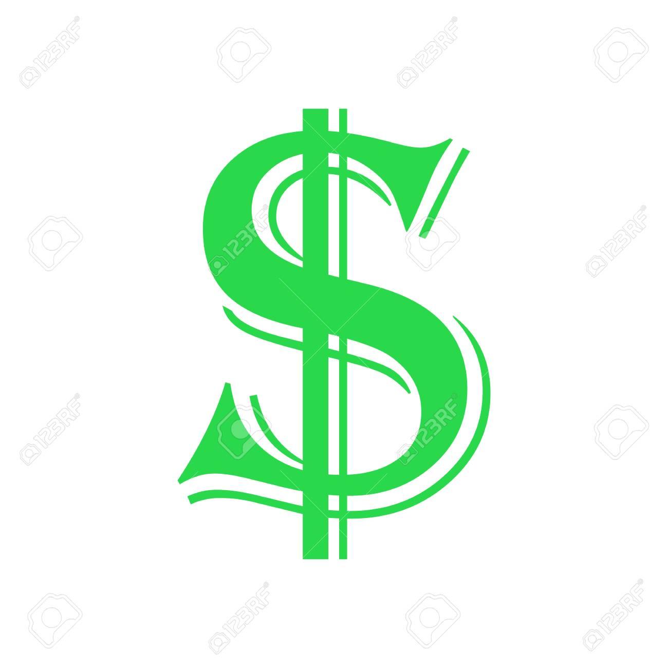 d514e1e6ec Vettoriale - Logo Simbolo Di Prosperità Del Dollaro. Disegno Dell .