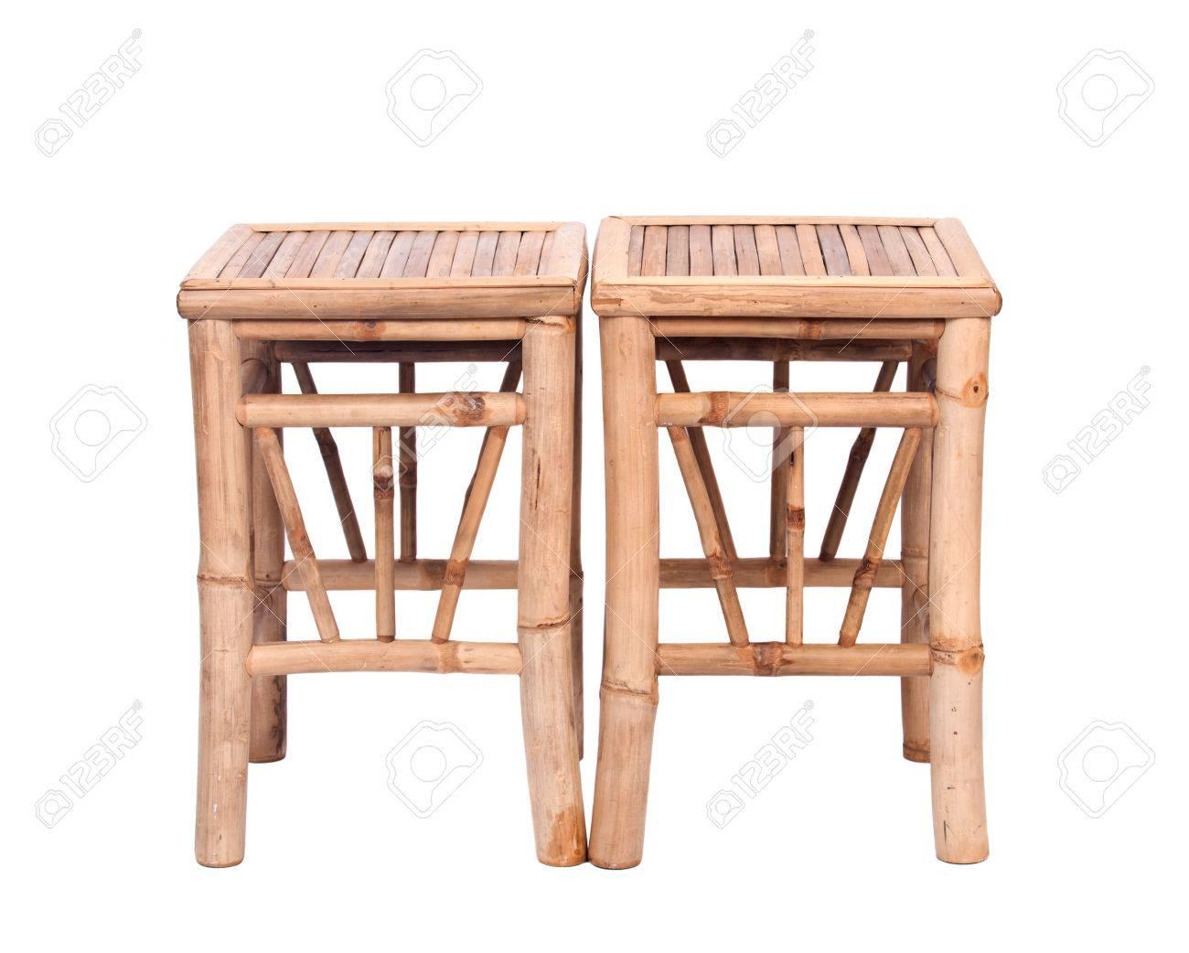fancy bambus-stuhl auf weißem hintergrund getrennt lizenzfreie fotos