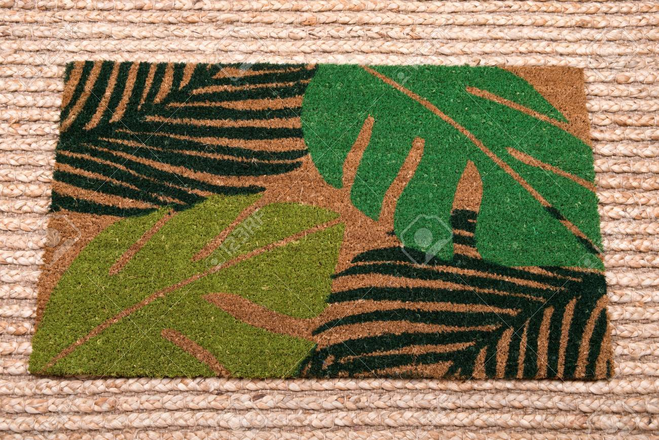 Waterguard Indoor And Outdoor Decorative Entrance Mat On Jute