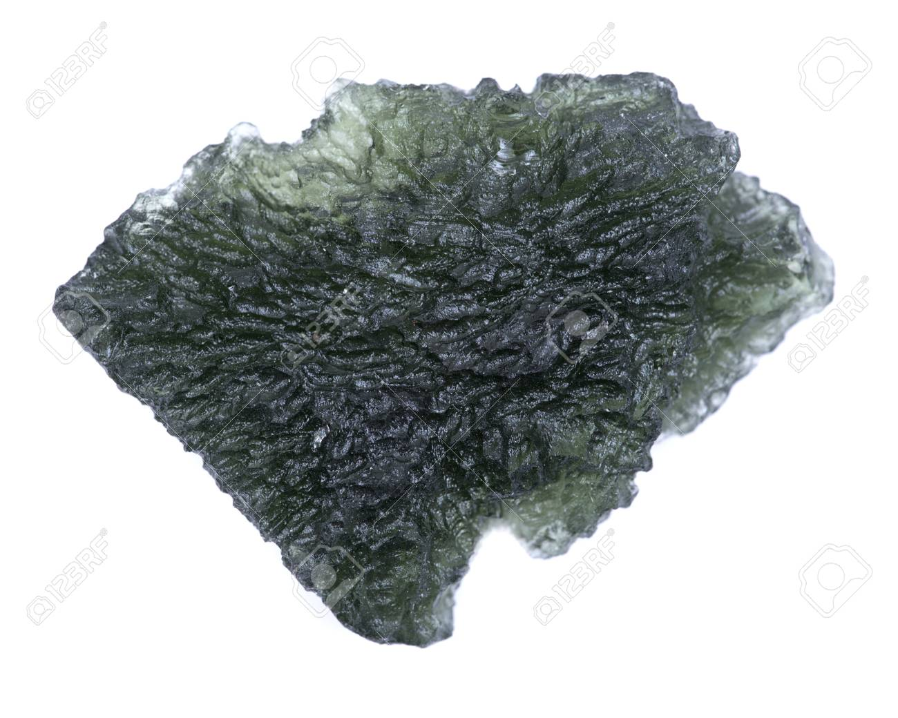 Moldavite - form of tektite found along the banks of the river