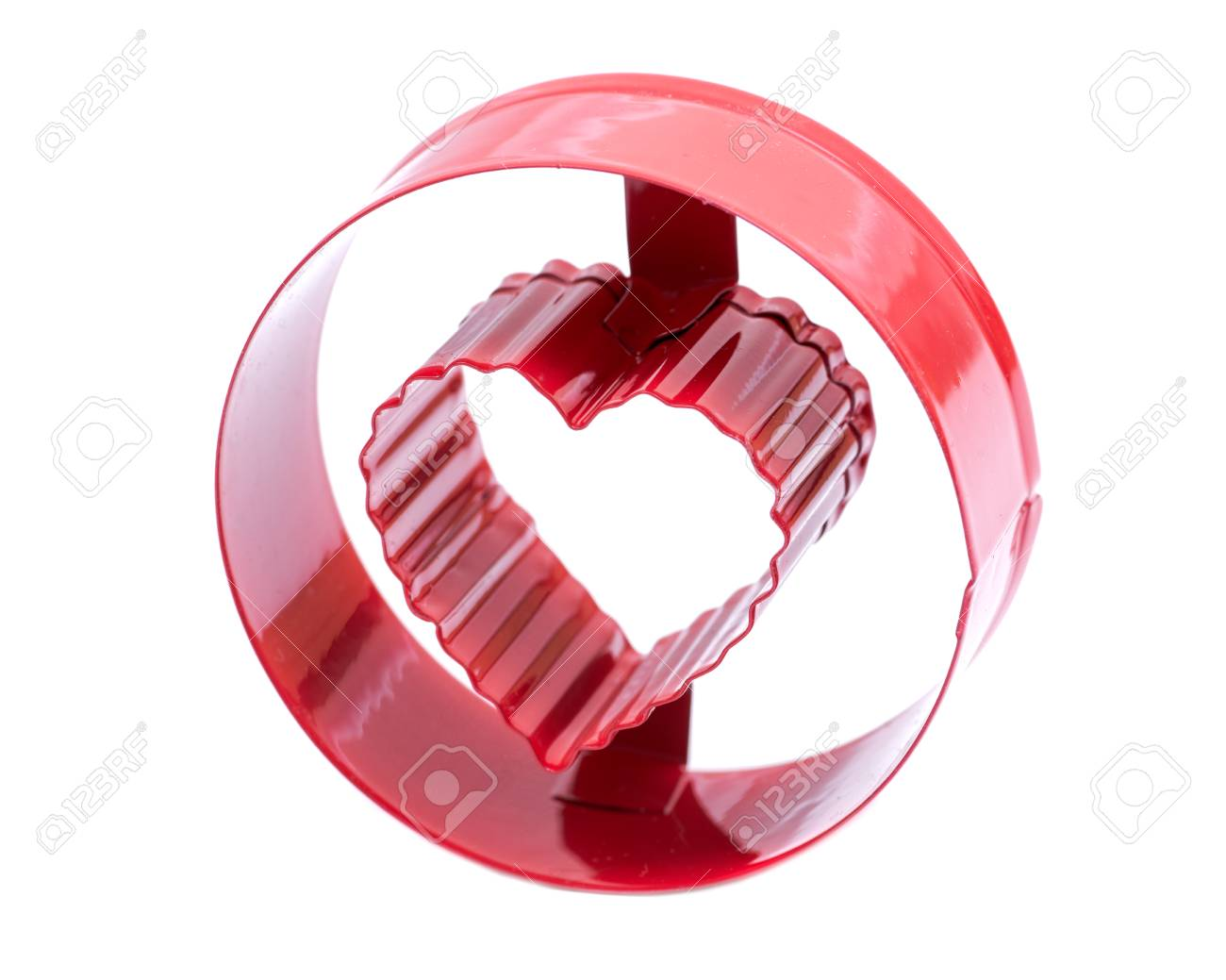 Letter O with heart cookie cake molds cutting making DIY shape