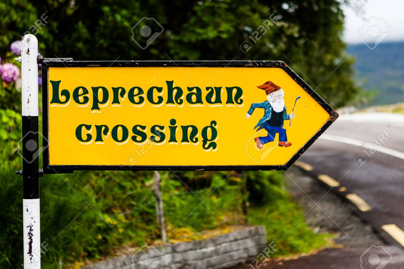http://previews.123rf.com/images/bjoernalberts/bjoernalberts1503/bjoernalberts150300063/37367958-Leprechaun-crossing-sign-at-the-Killarney-National-Park-Ireland-Stock-Photo.jpg