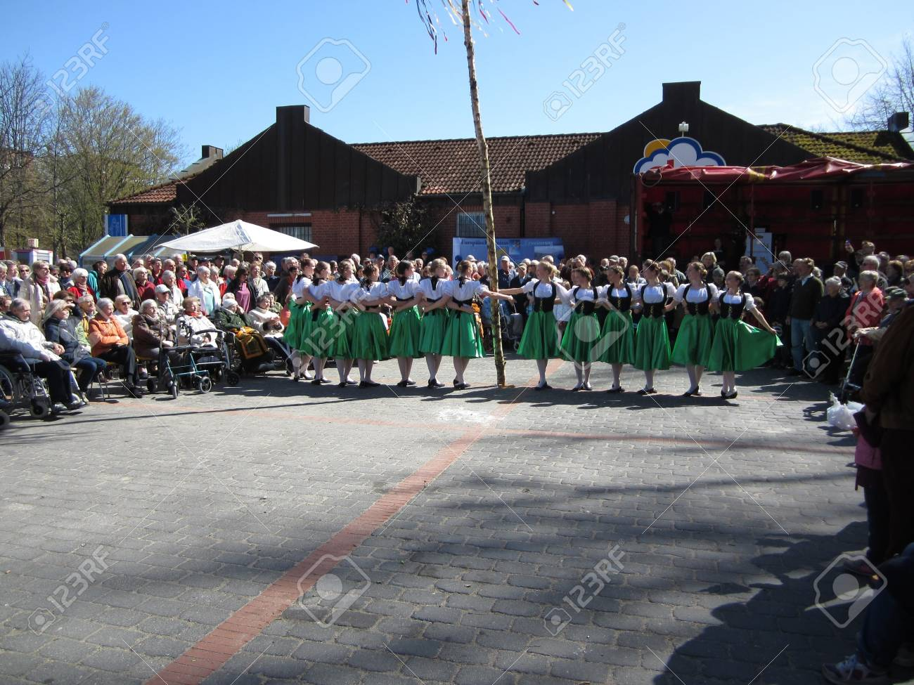 Dancing around the maypole Stock Photo - 20132895
