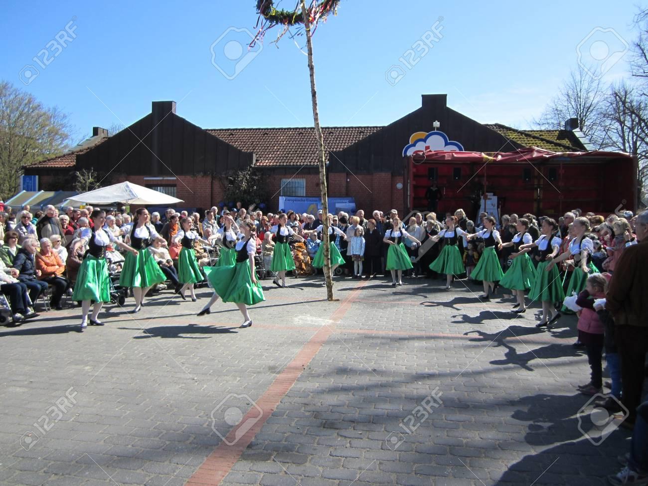 Dancing around the maypole Stock Photo - 24048086