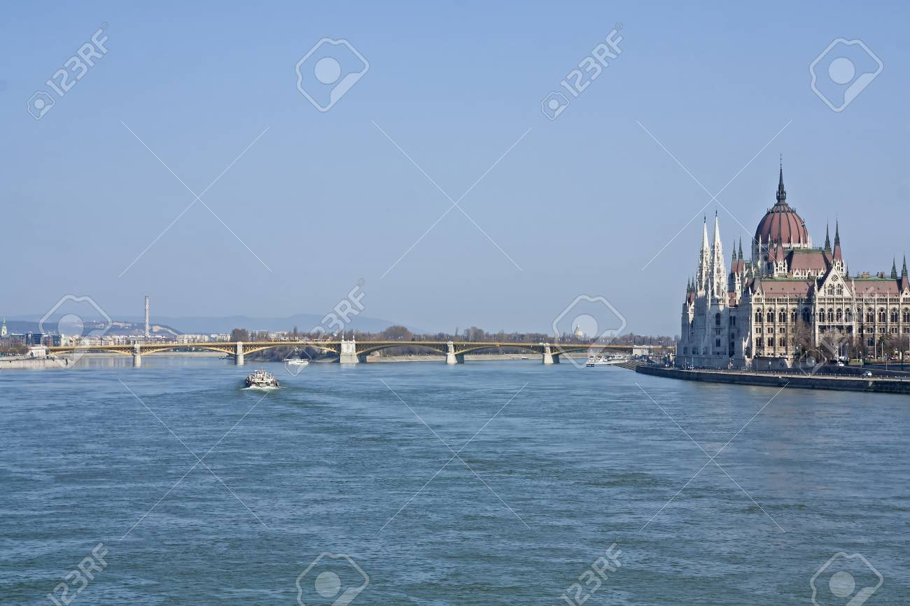 Hungarian Parliament Building on the banks of the River Danube in Budapest Hungary Stock Photo - 13025840