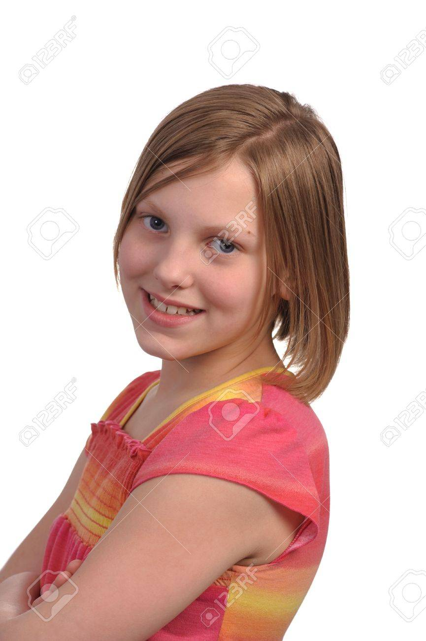 Picture of a young pretty pre teen girl Stock Photo - 4704184