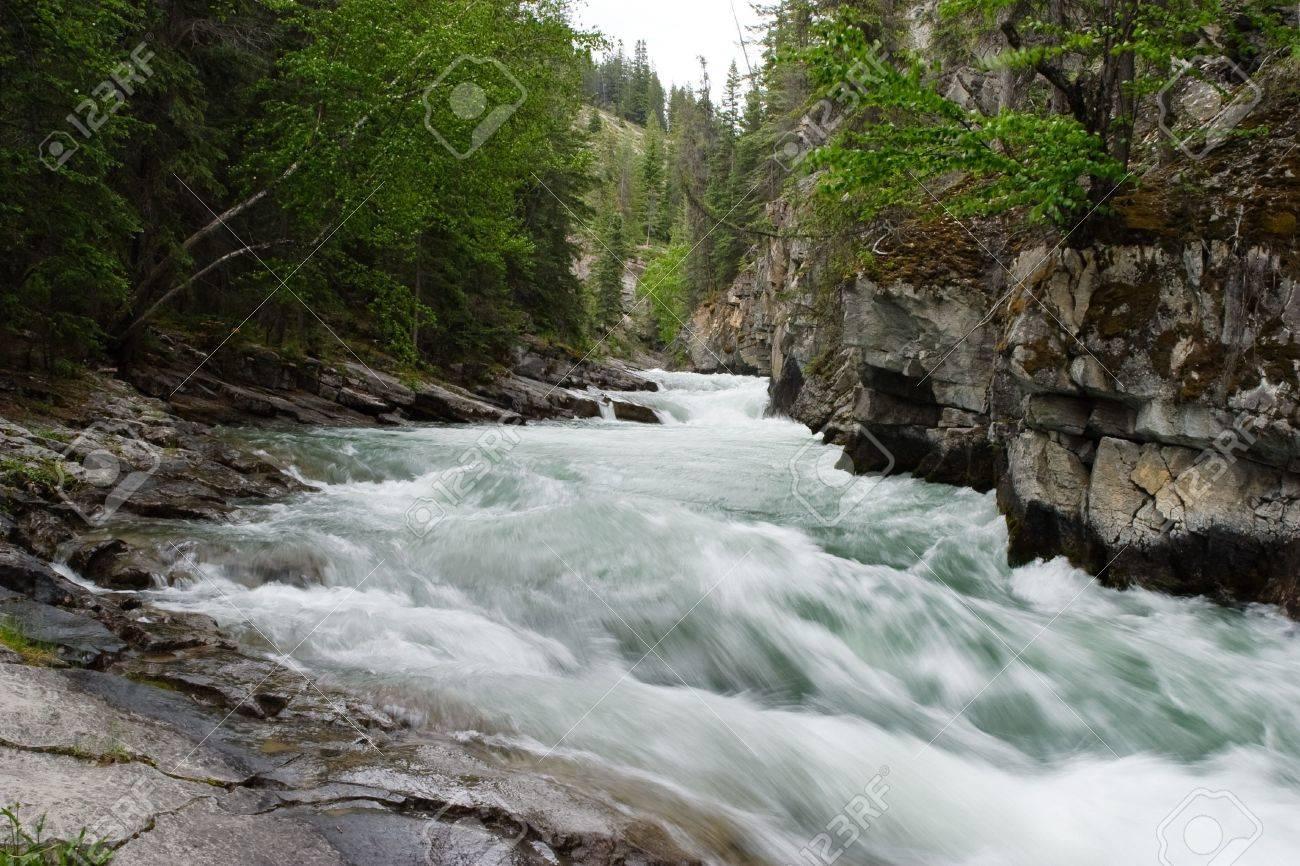 The river rapids in Jasper maligne canyon Stock Photo - 5464121