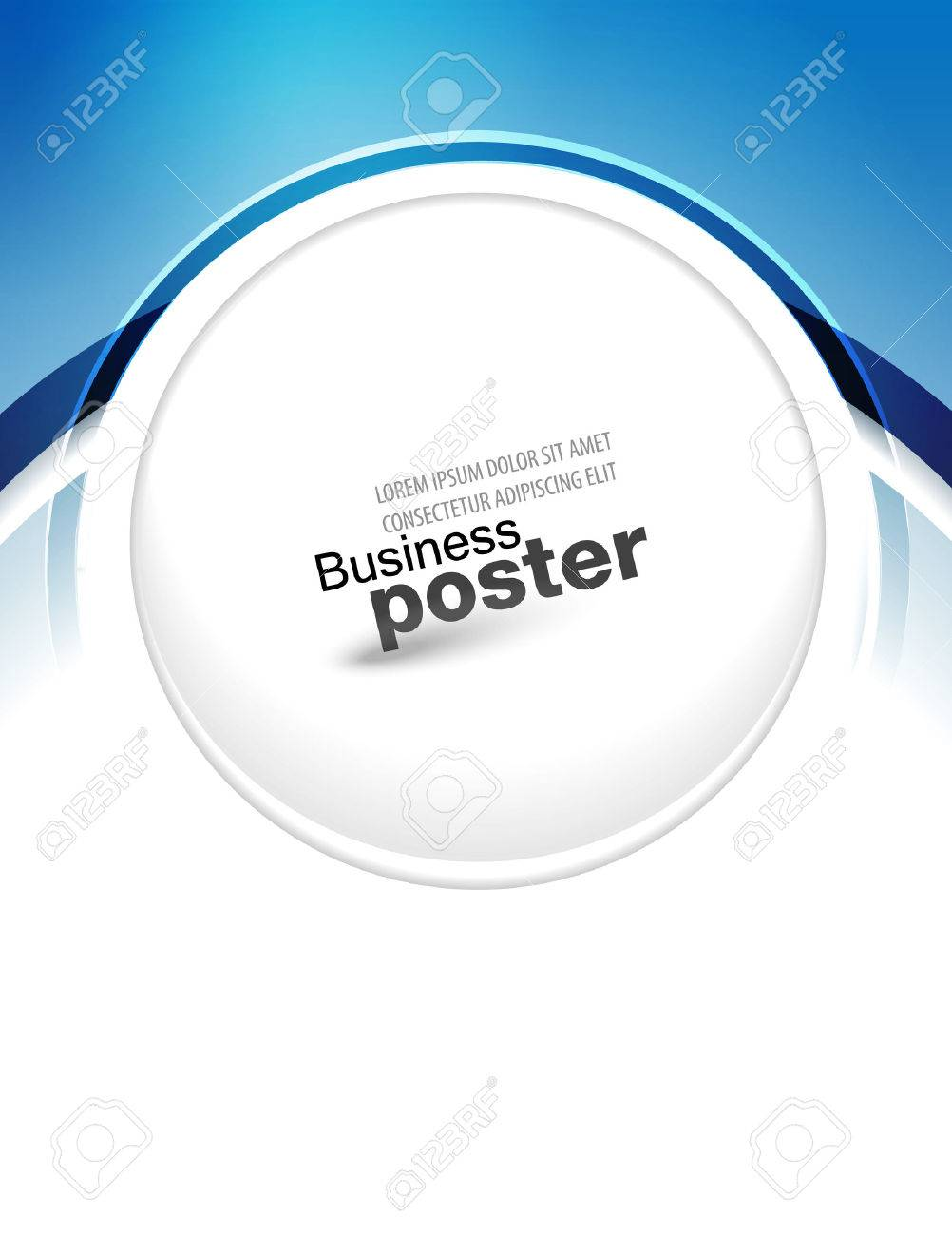 stylish blue presentation of business poster flyer design content background design layout template stock