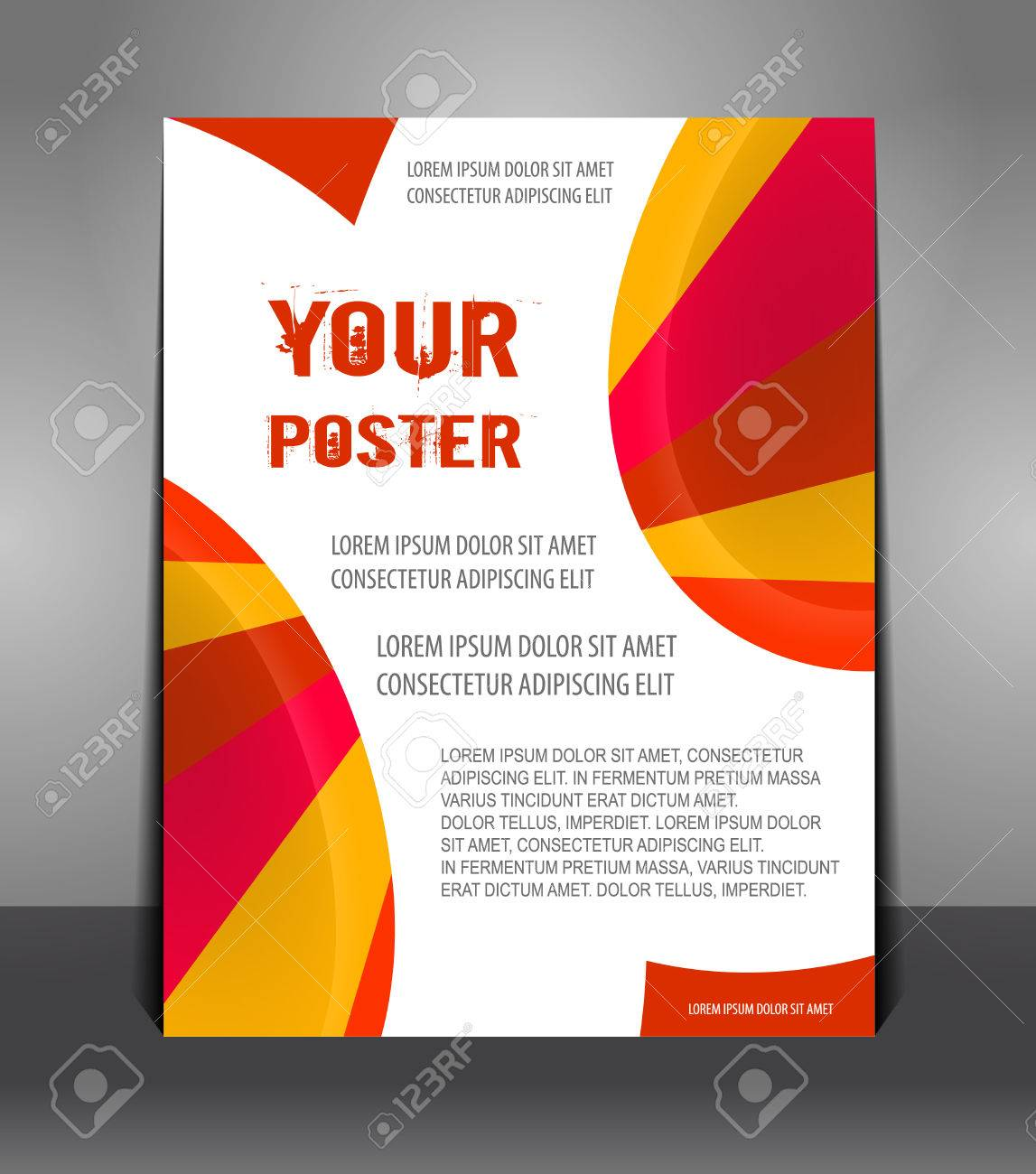 Poster design layout templates - Abstract Poster With Rays Flyer Design Content Design Layout Template Stock Vector 25163442