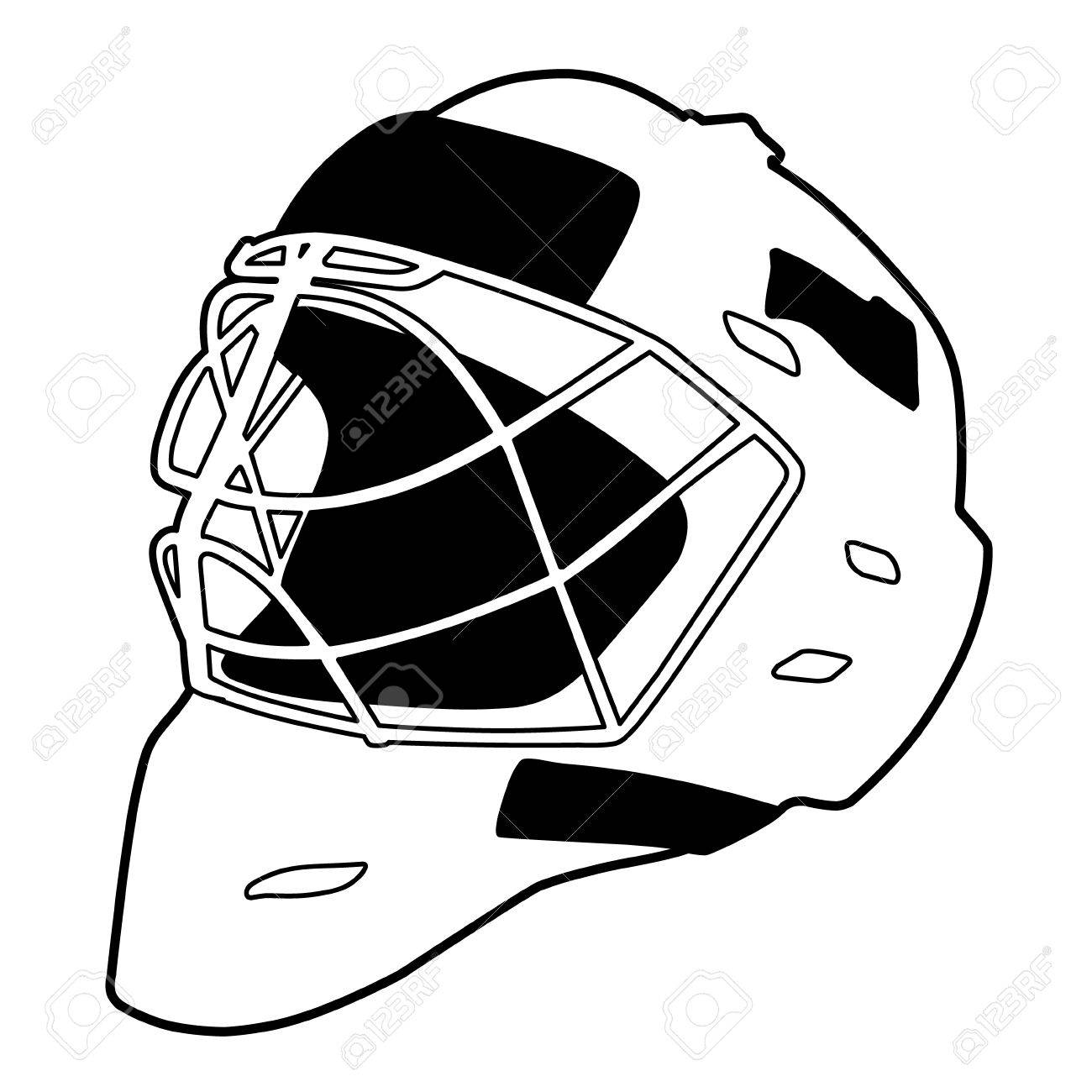 Hockey Helmet Isolated Vector Illustration Goalie Mask Royalty Free