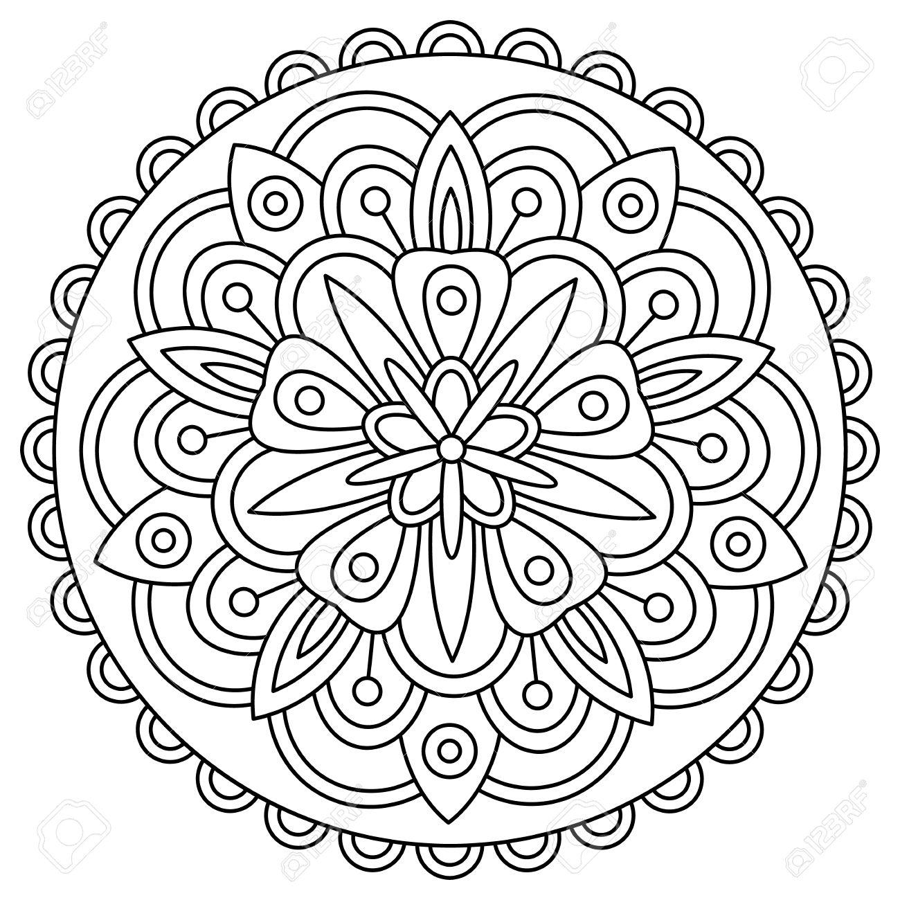 Moderno Cool Mandala Para Colorear Ilustración - Ideas Para Colorear ...