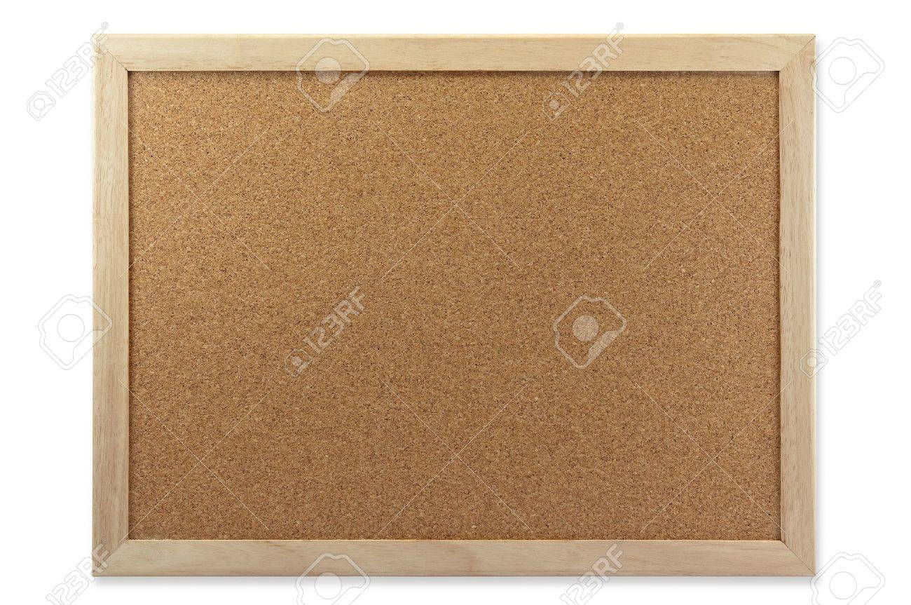 Memo Cork Board Isolate On White Background Stock Photo - 9386044