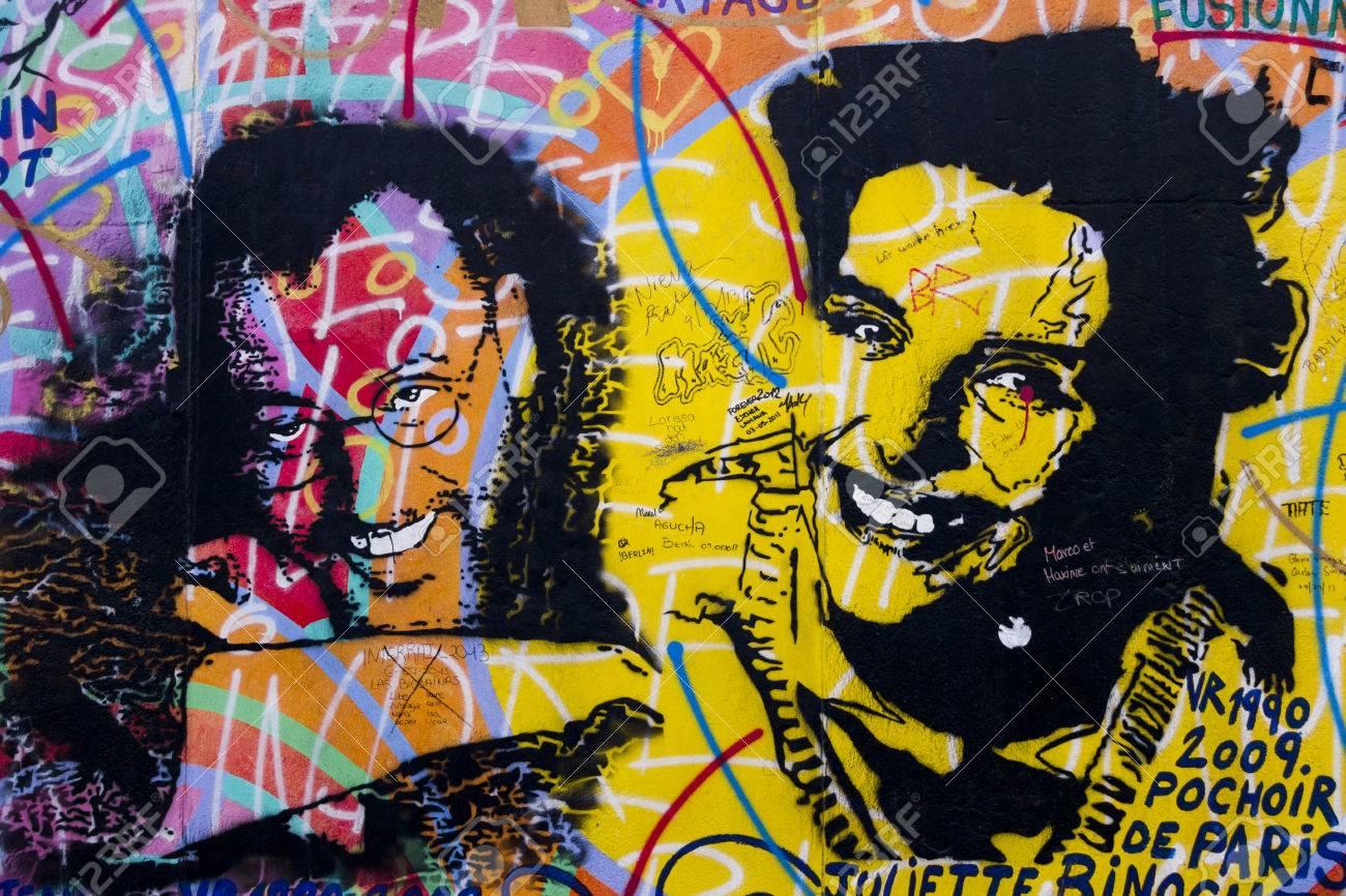 BERLIN, GERMANY-FEB 15:East Side Gallery Berlin Graffiti On Feb ...