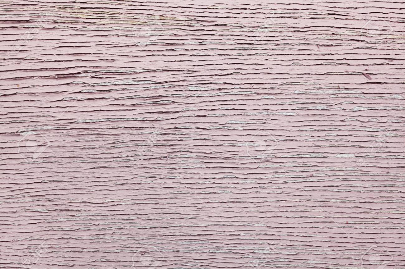Peinture Rose Craqué Sur Un Mur En Bois Mur De Surface En Bois Avec
