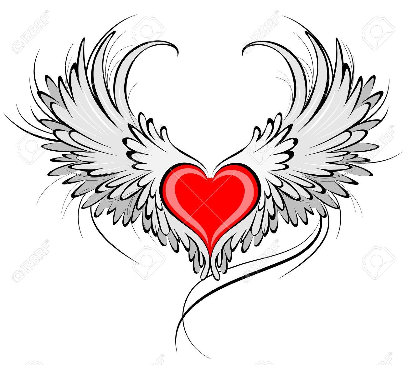 exceptional tatouage coeur avec ailes d ange #2: tatouage ange