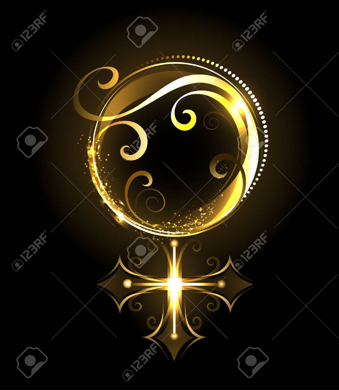 Shiny jewelry gold symbol of venus on a black background royalty shiny jewelry gold symbol of venus on a black background stockfoto 28304645 voltagebd Choice Image