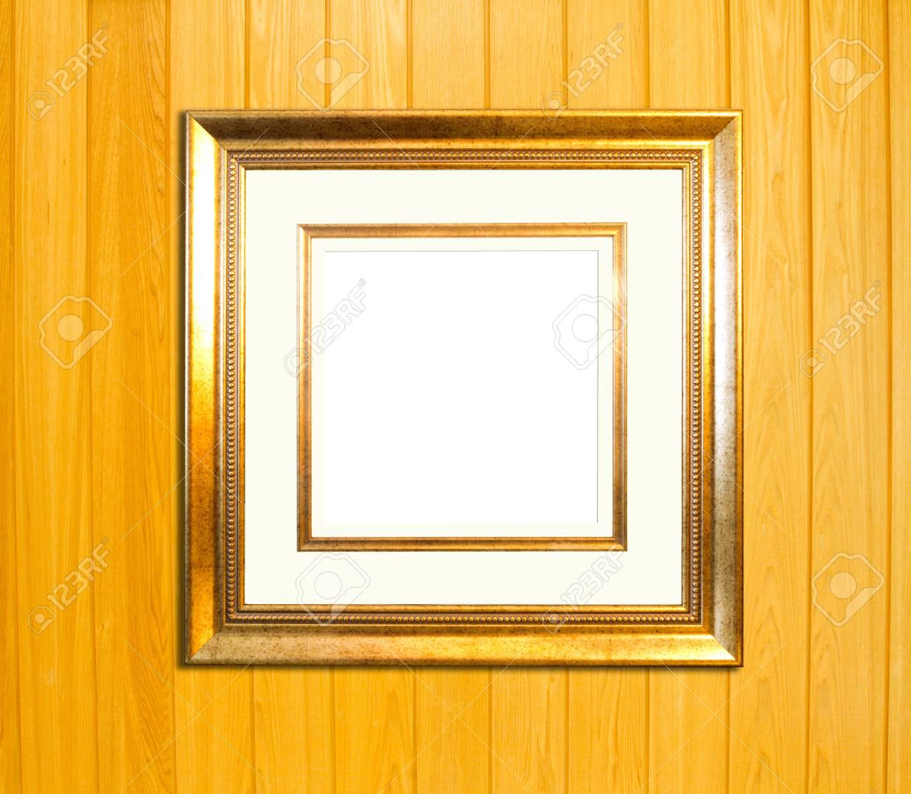 Goldweinlese Bilderrahmen, Holz Vergoldet, Holz Hintergrund ...
