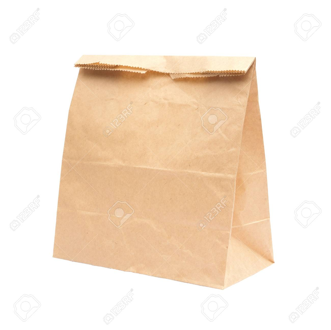 Recycled Shopping paper bag isolated on white background Stock Photo - 15115459