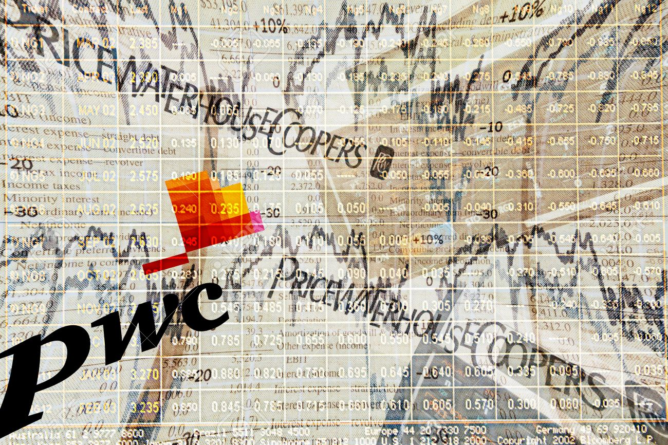 Illustration of audit firm PricewaterhouseCoopers (PwC). PwC is a global professional services firm headquartered in London, UK.  Stock Photo - 11147448