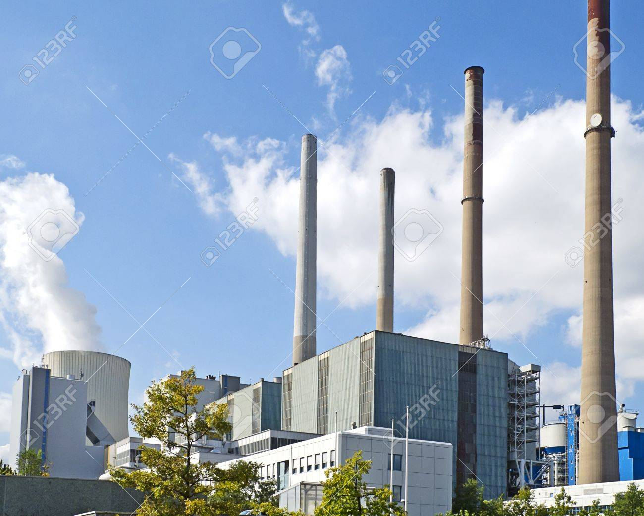 Coal-burning power plant  in Grosskrotzenburg, Hesse, Germany. Operator: EON Group. Image taken on September 15, 2011. Stock Photo - 11200727