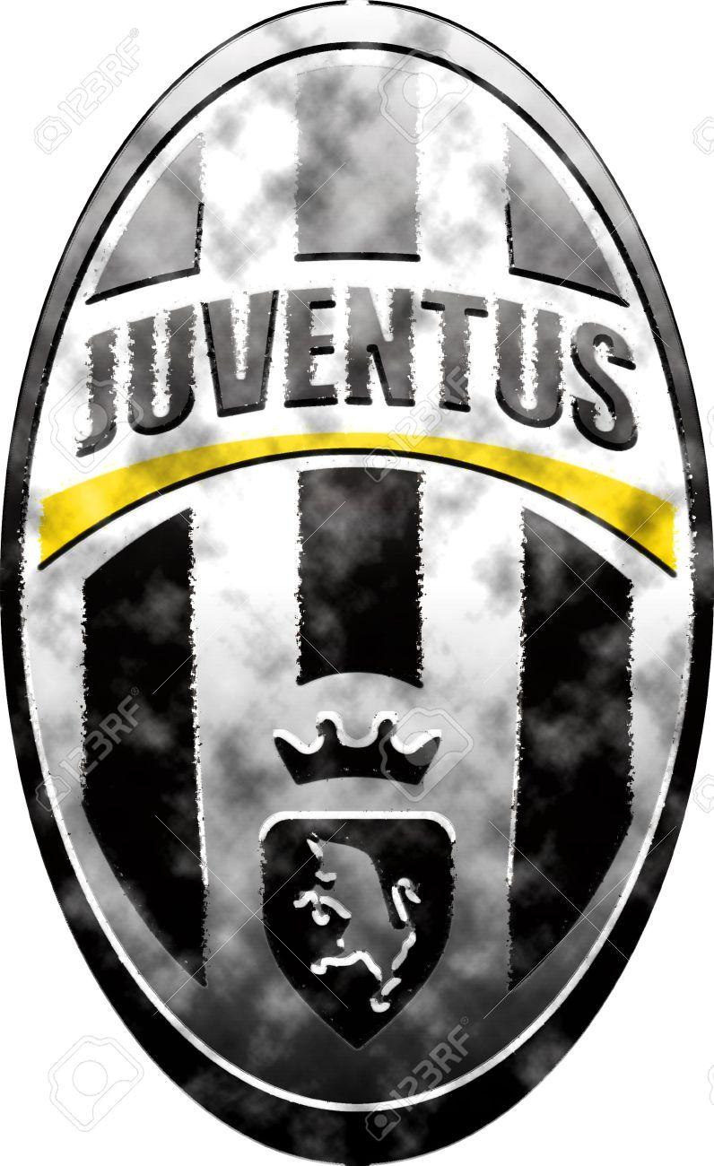 Gebrauchte Abzeichen von Juventus Turin Lizenzfreie Bilder - 13668646
