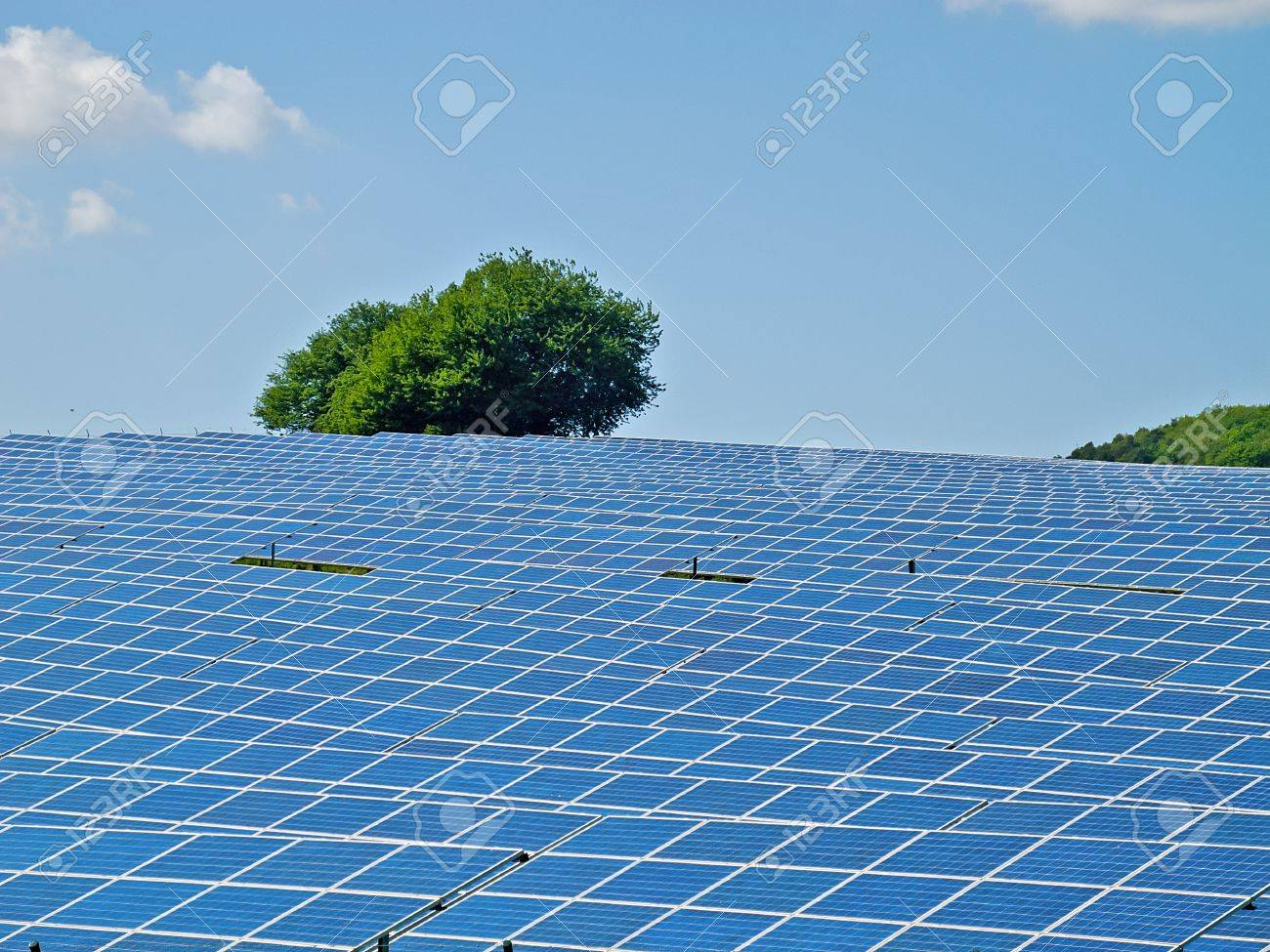 Solar cells at a solar park in Hesse, Germany  Stock Photo - 13775511