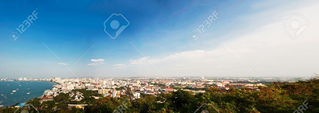 Panorama of Pattaya bay in Thailand Stock Photo - 9382210