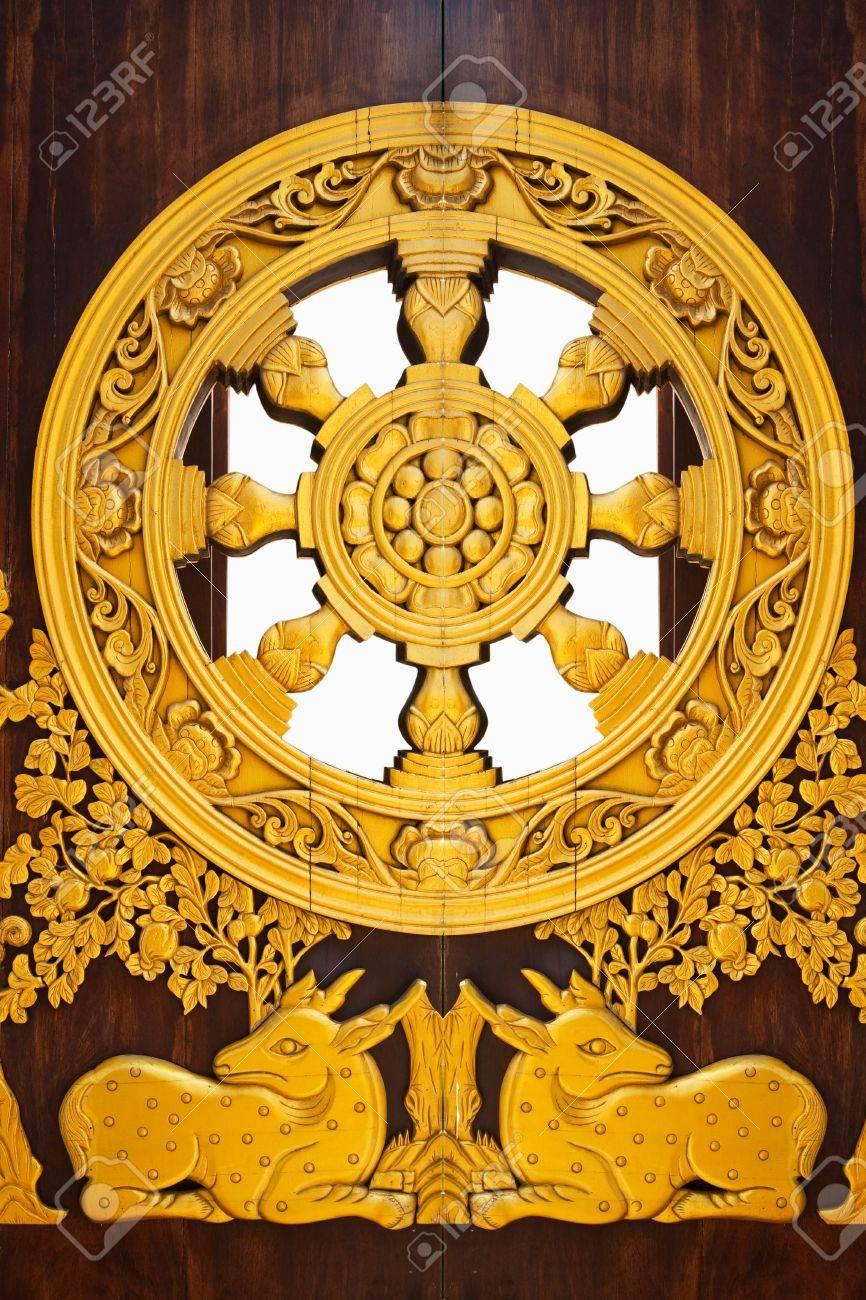 Buddhist wheel Stock Photo - 9410157