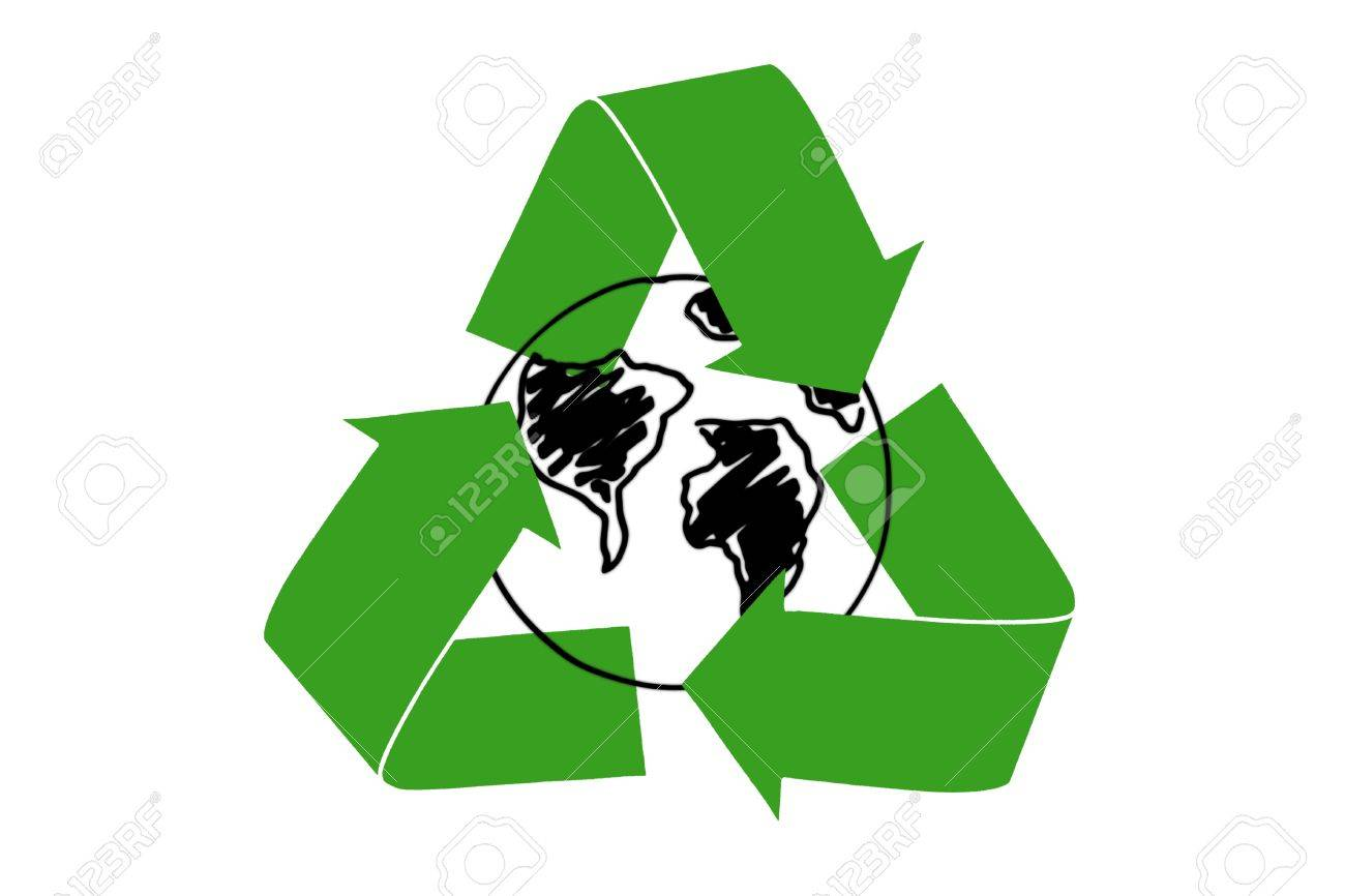 The recycling symbol of arrows surrounding earth drawn stock the recycling symbol of arrows surrounding earth drawn stock photo 10849249 biocorpaavc Gallery