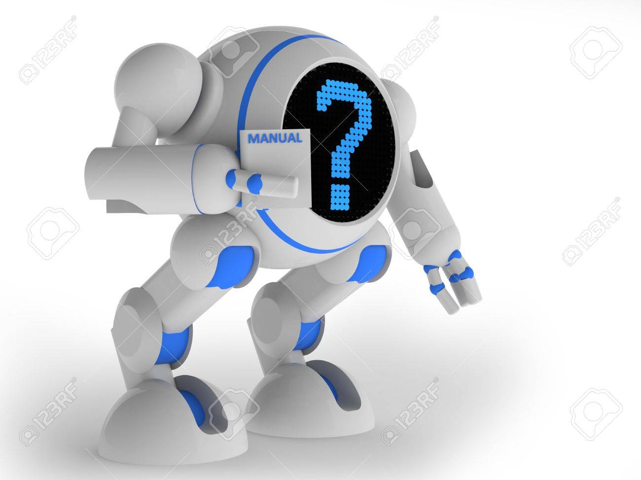 Robot confused Stock Photo - 14269668
