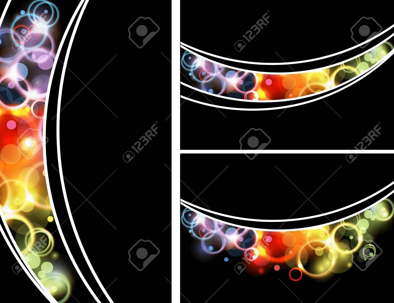 Shiny circles design template Stock Vector - 15375614