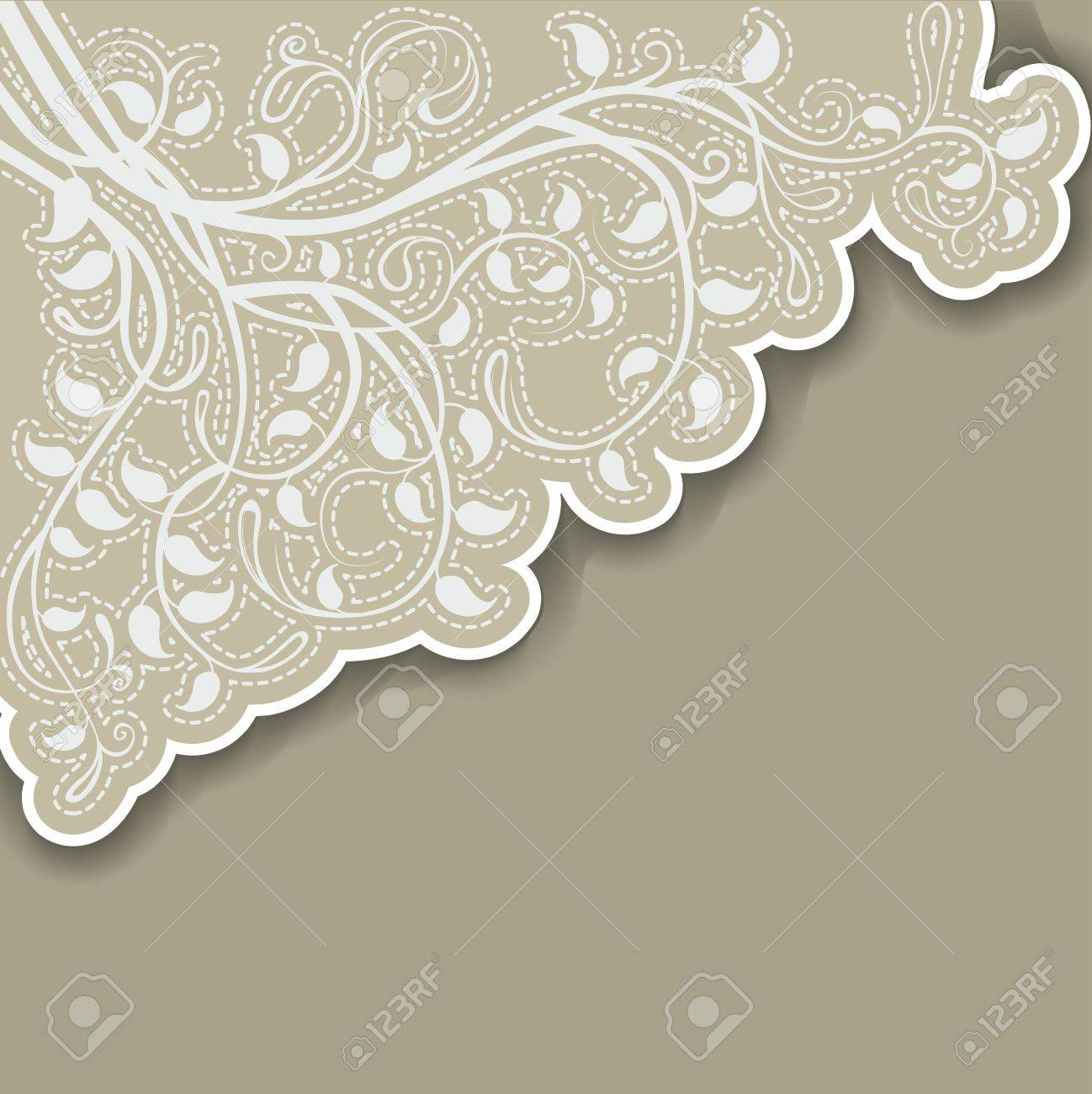Angular floral background Stock Vector - 15743706