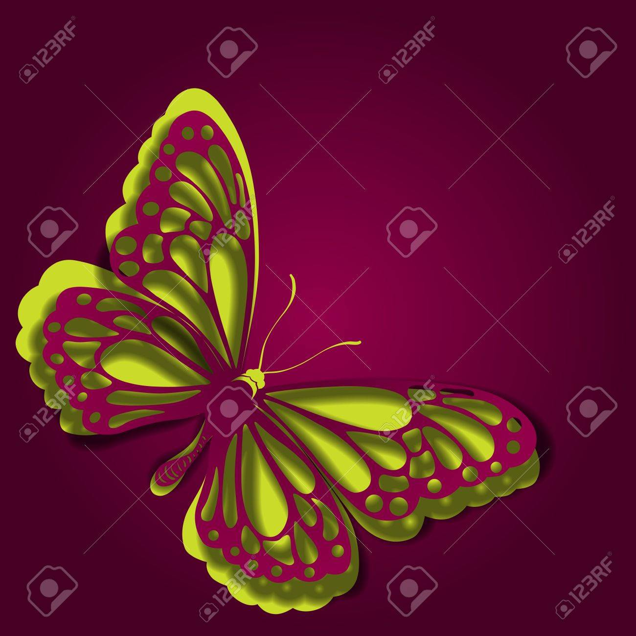Paper butterfly Stock Vector - 16503789
