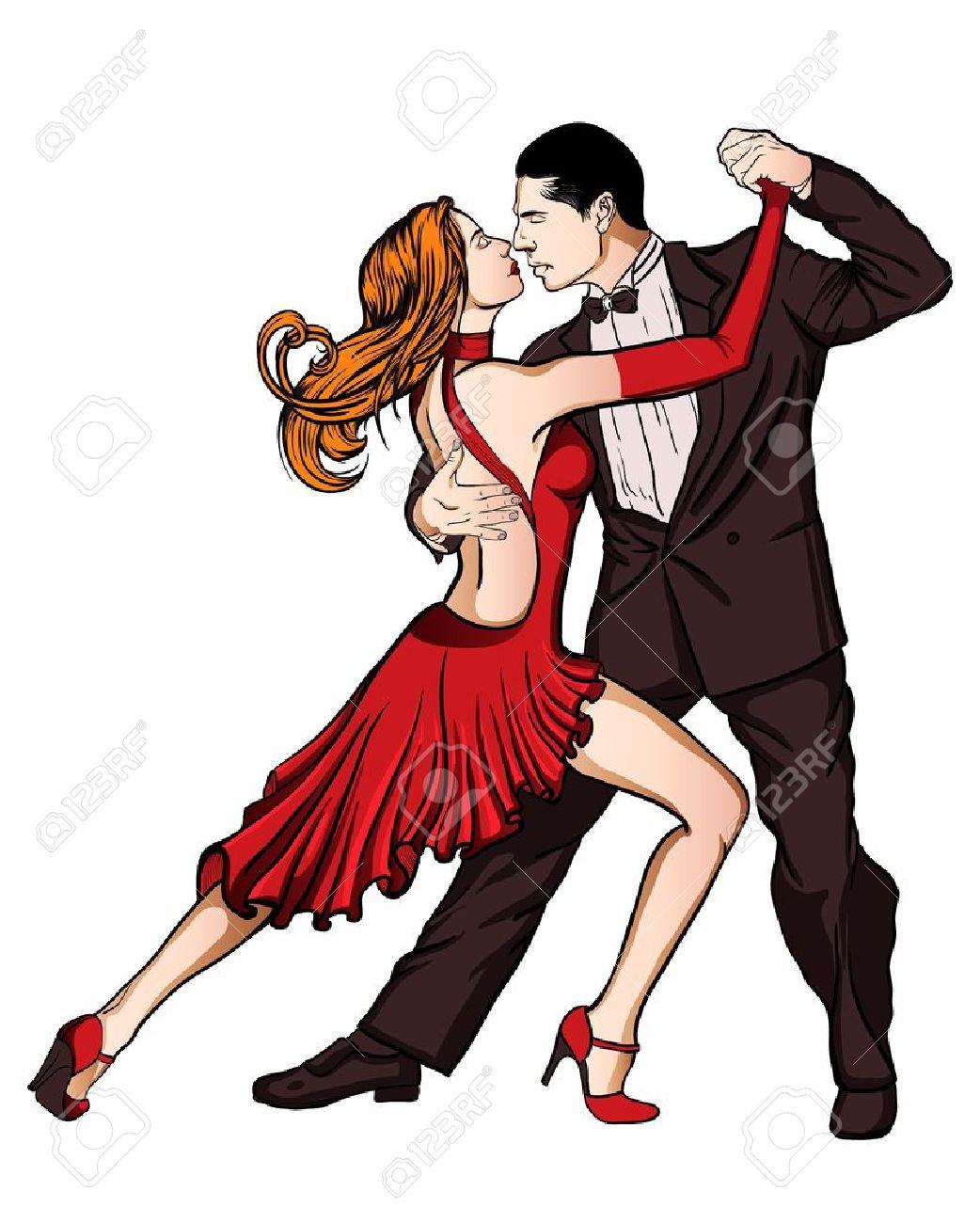 A couple dancing tango isolated Stock Vector - 17439608