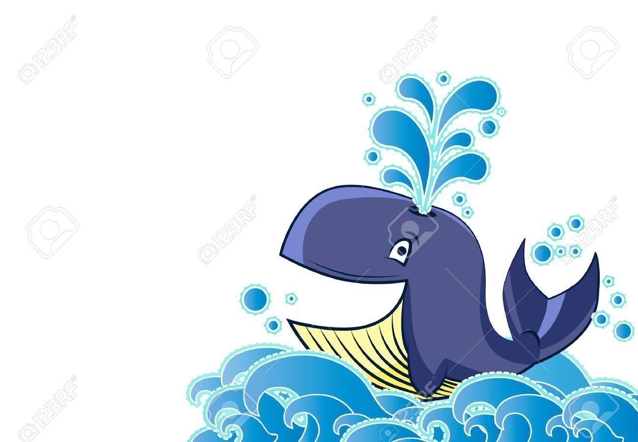 Cartoon style whale Stock Vector - 17775763