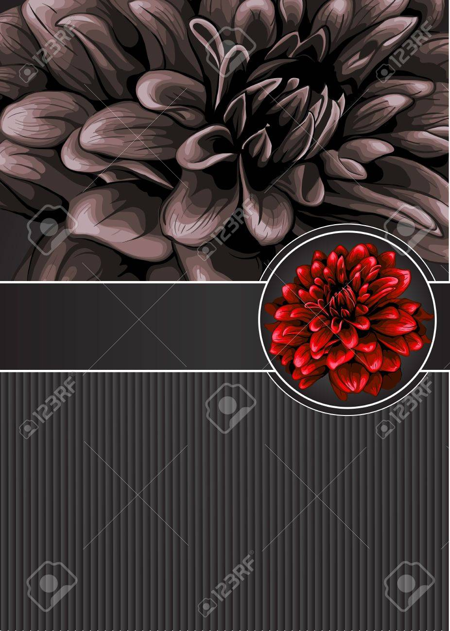 Elegant floral design template Stock Vector - 17775769
