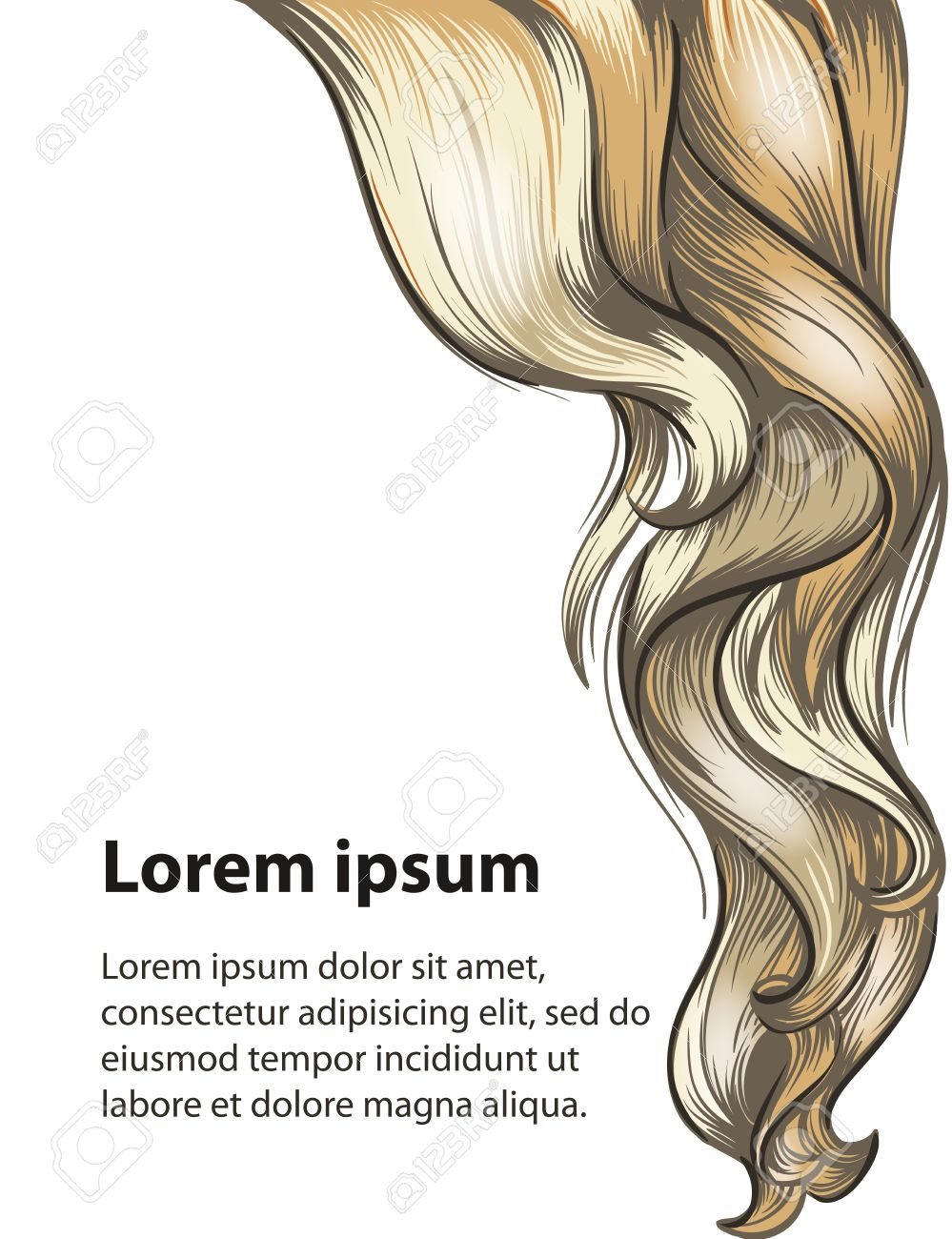 Hair Style And Hair Care Design Template Royalty Free Cliparts ...