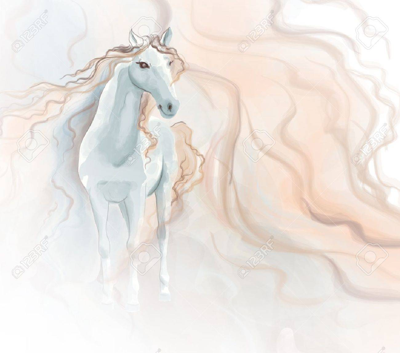 Horse watercolor painting - 21020278