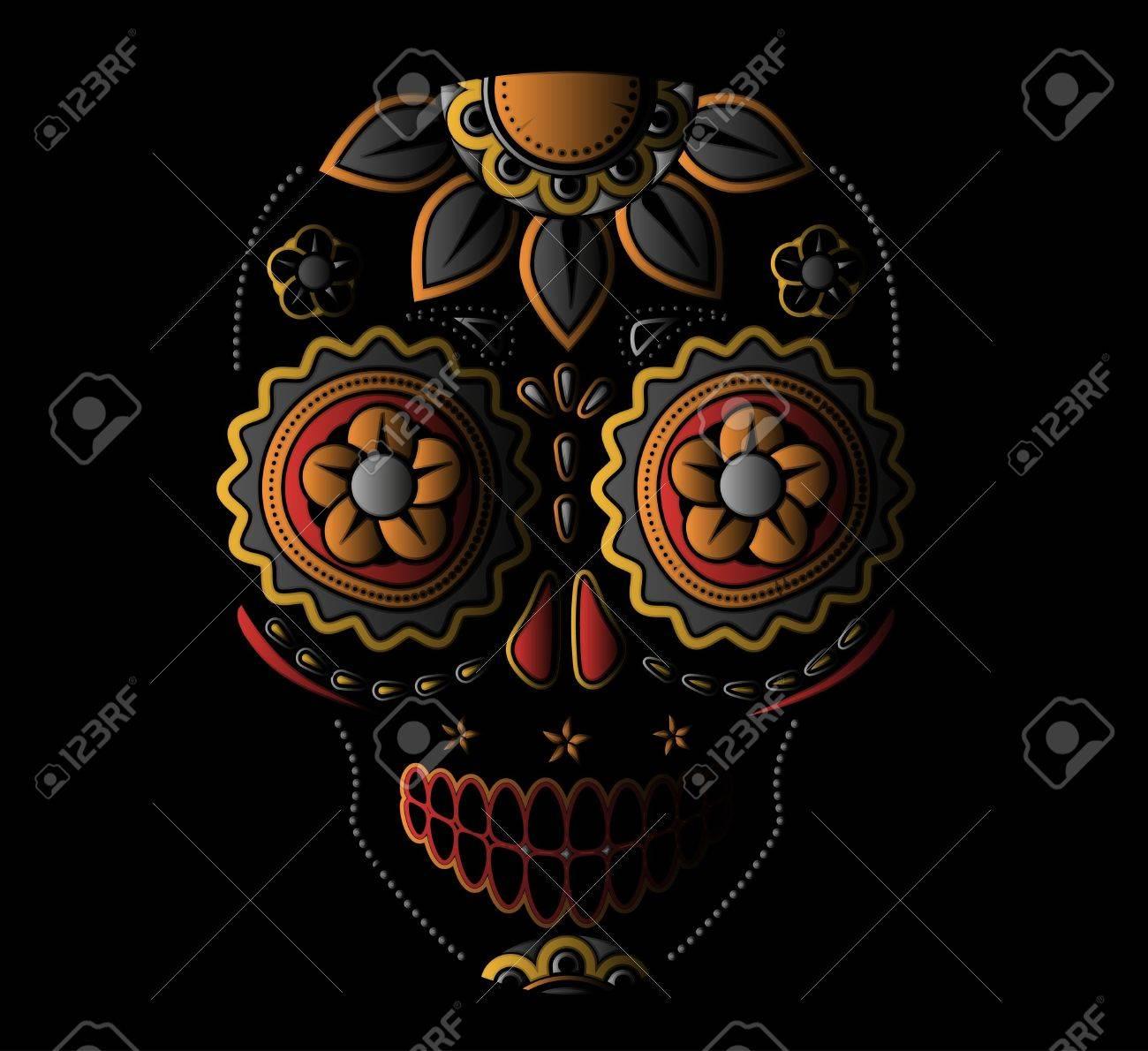 Day of the dead sugar skull - 21563464