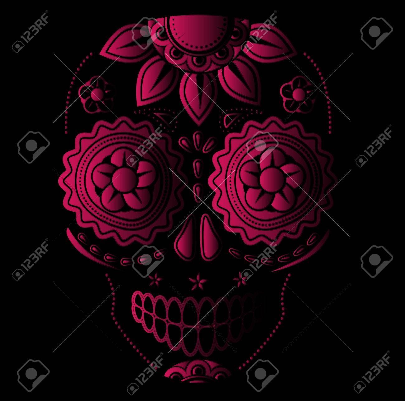 Day of the dead sugar skull - 21563498