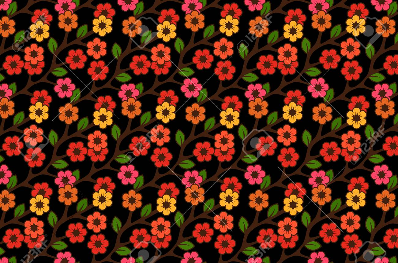 Floral semless rustic pattern Stock Vector - 22446845