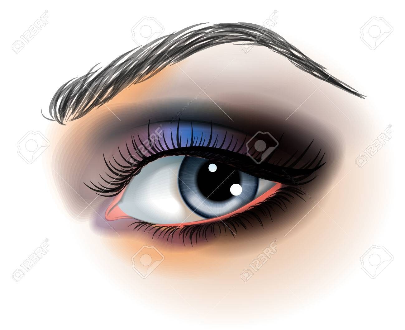Eye make up illustration - 23650969